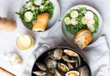 Littleneck Clams with Bacon, Butter, Herbs