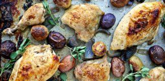 Sheet Pan Roast Chicken with Chimichurri Sauce