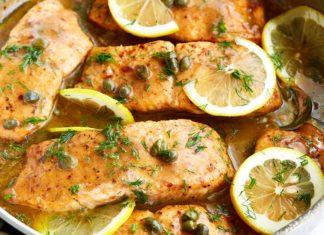 Salmon Piccata with Velvety Sauce