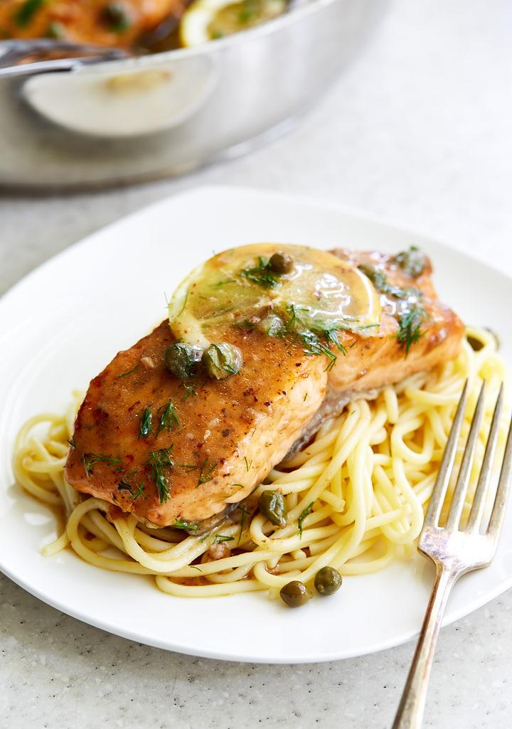 Salmon-Piccata-Velvety-Sauce