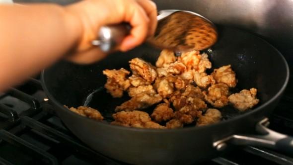 Spicy Garlic Fried Chicken - Cooked