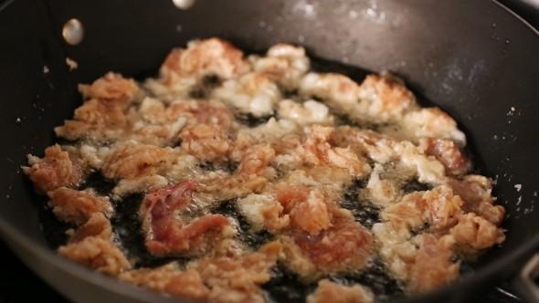 Spicy Garlic Fried Chicken - Cooking