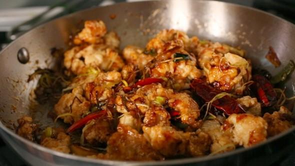 Spicy Garlic Fried Chicken - Finished